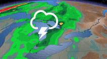 Rain for northern Ontario Saturday, thunderstorm risk in the south on Sunday