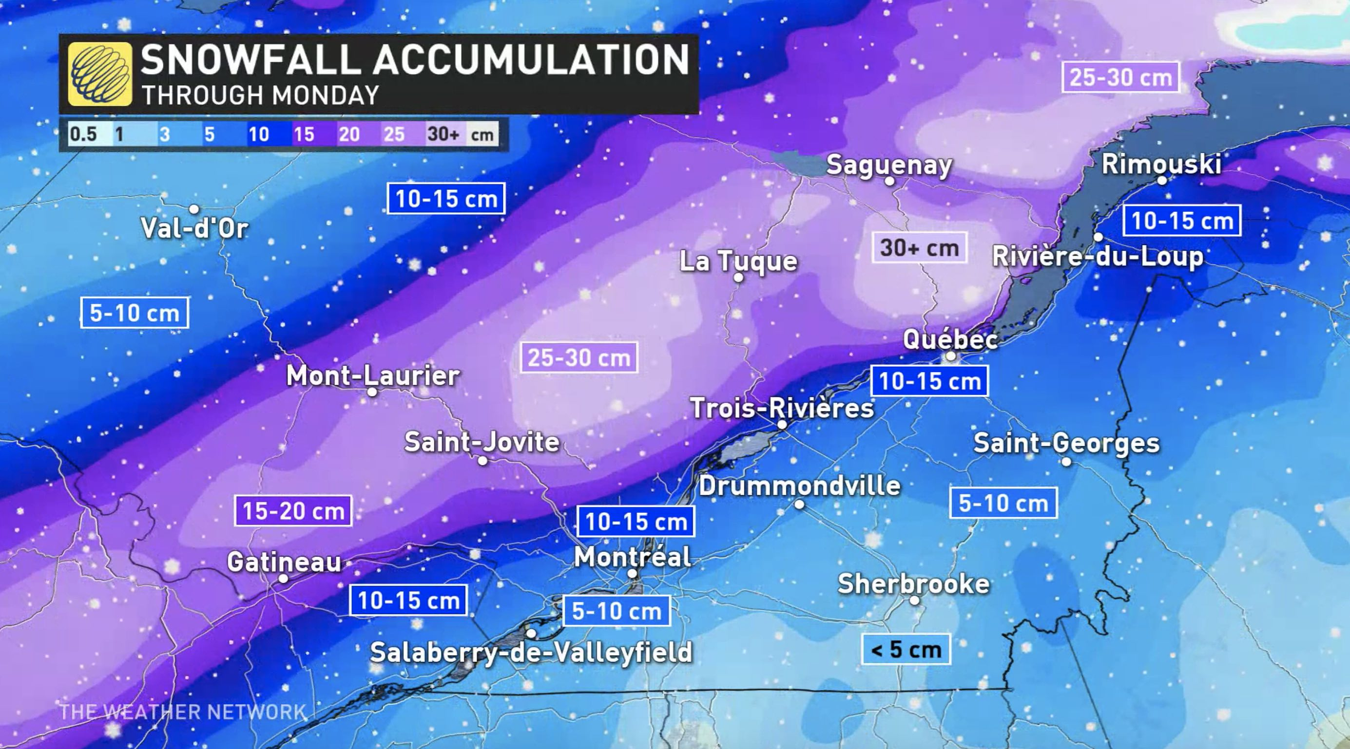 Environment Canada issues snowfall warnings as storm hits Ontario, Quebec