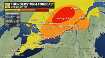 Ontario: Severe storms, heavy downpours possible through Wednesday