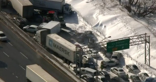 Two killed, 90 injured in 100-car pileup on Montreal's South Shore