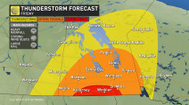 Severe thunderstorms likely in Manitoba, large hail and heavy rain possible