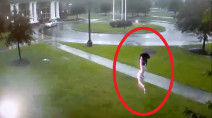 Caught on cam: Man nearly struck by lightning