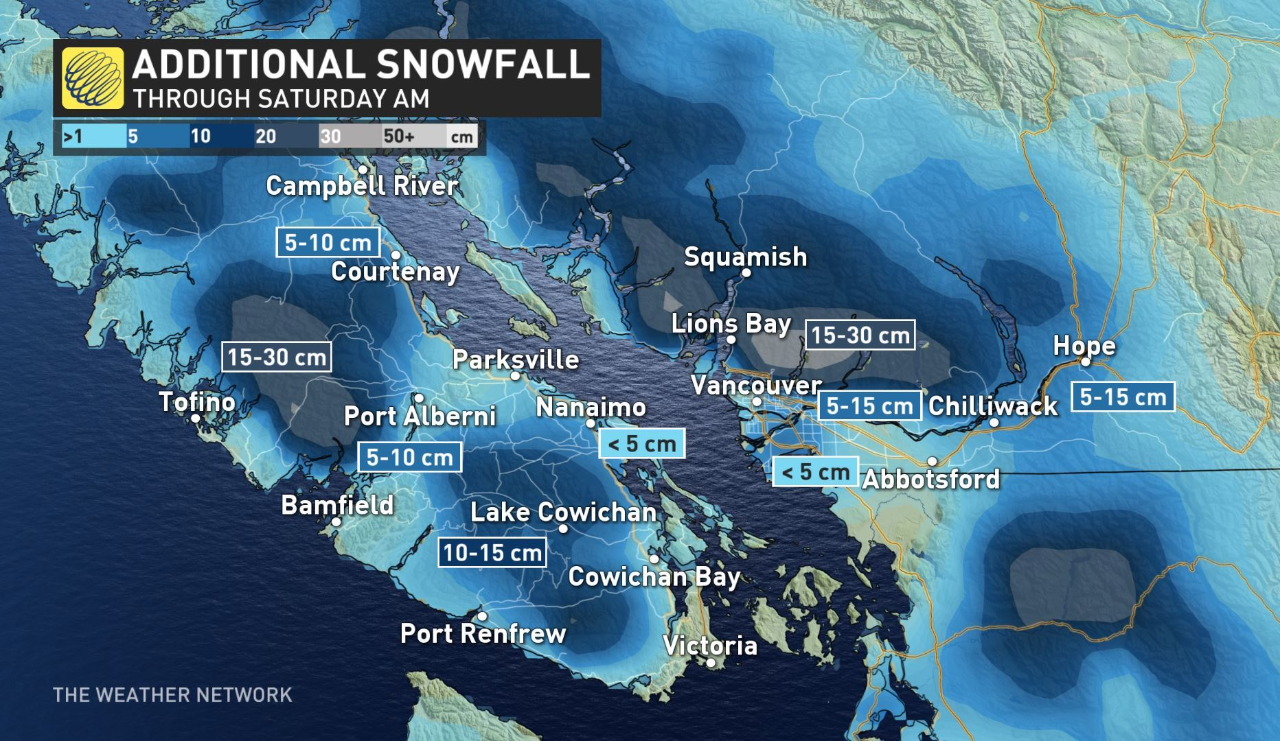 Still not over yet: Snow, wind and rain coming to Vancouver Island