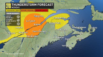 Quebec: Work week starts with severe thunderstorm threat