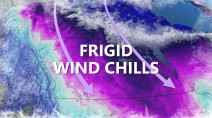 Prairies: Dangerous wind chill values as temps plunge to -30