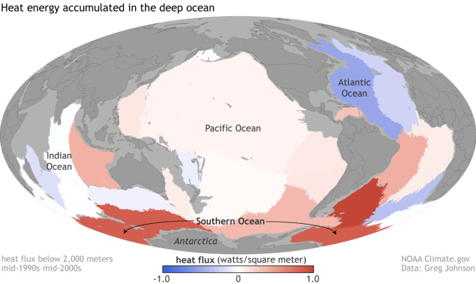 Cruise ship deep heat flux data NASA