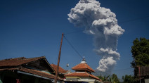 Indonesia's Mount Merapi erupts, ash visible hundreds of miles away