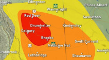 Prairies: Severe threat increases after sunset for Alberta