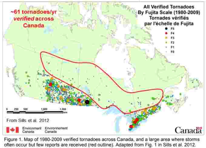 verified tornadoes