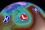 Rare set-up with 'backwards' system impacts Eastern Canada