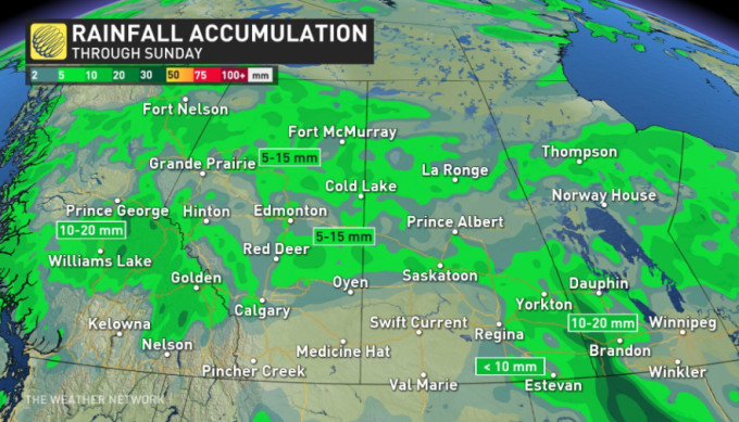 The Weather Network - Prairies: High humidity, severe ...