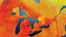 No significant relief in sight to Ontario's searing heat, dry bout