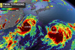 Rare scenario plays out as twin typhoons target Asia