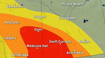 Prairies:  Storm risk building into Thursday, with tornado risk
