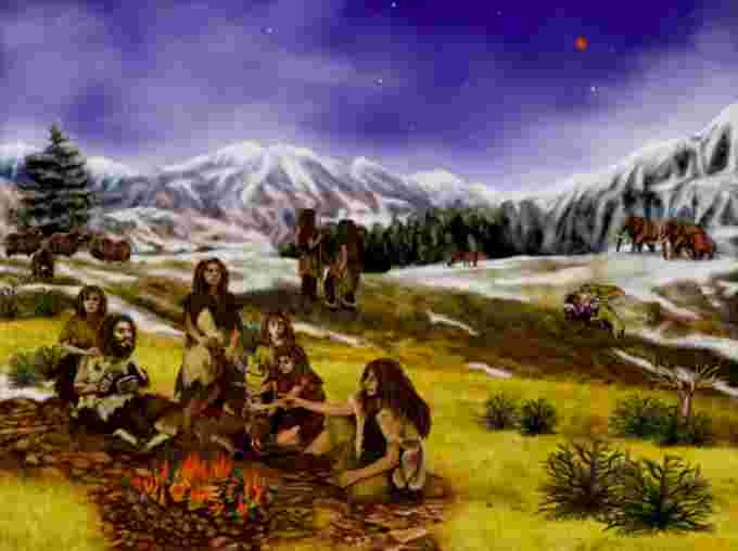 Neanderthals during the pleistocene. Credit: NASA/Caltech