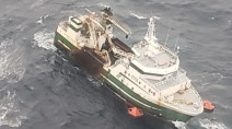 Rescuers save all 31 crew members hours before ship sinks off Nova Scotia coast