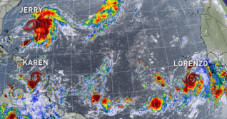 Three tropical storms now churning in the Atlantic