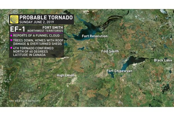 Map Of Canada North Of 60.The Weather Network Rare Tornado Judged Probable In Northwest