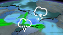 Ontario hasn't seen the last of the snow yet, next dash comes Tuesday