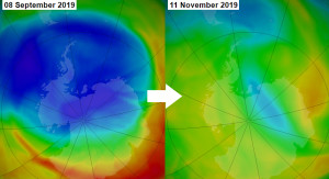 Antarctic ozone hole has closed in near-record time for 2019