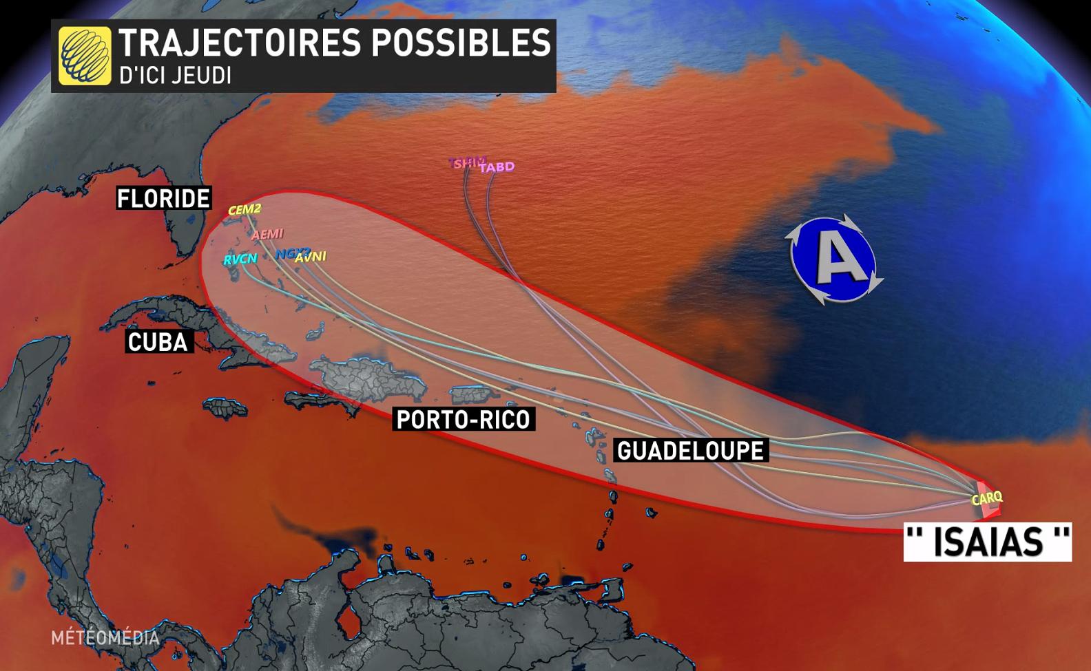 Intempéries Alerte orange sur le pays avant l'arrivée d'un cyclone