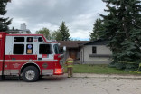 Lightning strikes house and sets it on fire in Calgary