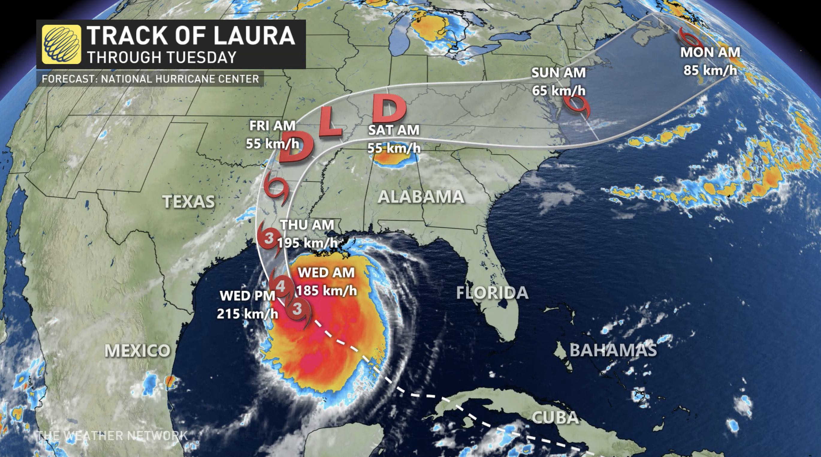 TROPICS: Laura becomes major hurricane ahead of 'potentially catastrophic' US landfall