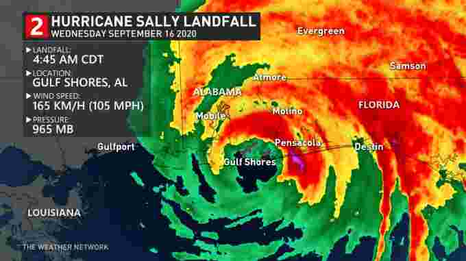Hurricane Sally landfall