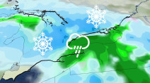 Heavy snow lasts though Saturday for the east, 15-25 cm likely