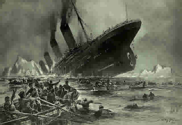 Wikipedia Sinking of the titanic