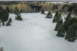 With Love, From Nova Scotia: Snow turned to message of hope