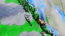 B.C. coasts in for a soaking, freezing rain for the interior