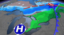 Next healthy dose of snow targets northern Ontario, more rain in the south