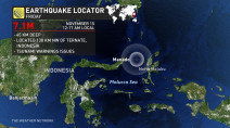 Tsunami warning issued after after 7.1-magnitude quake hits off Indonesia