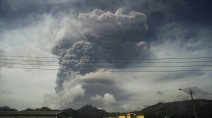 St Vincent's Caribbean residents wake to ash-covered streets, rumbling volcano