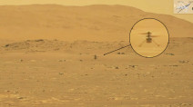 Mars helicopter makes history with first powered flight on another planet