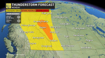 West: Severe thunderstorm risk ahead of a summer...snowfall?