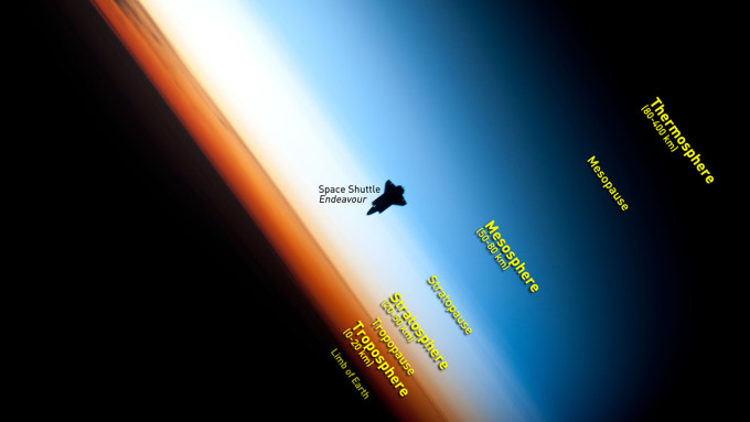 Atmospheric-Layers-Astronaut-Pic-Space-Shuttle-Endeavour-NASA