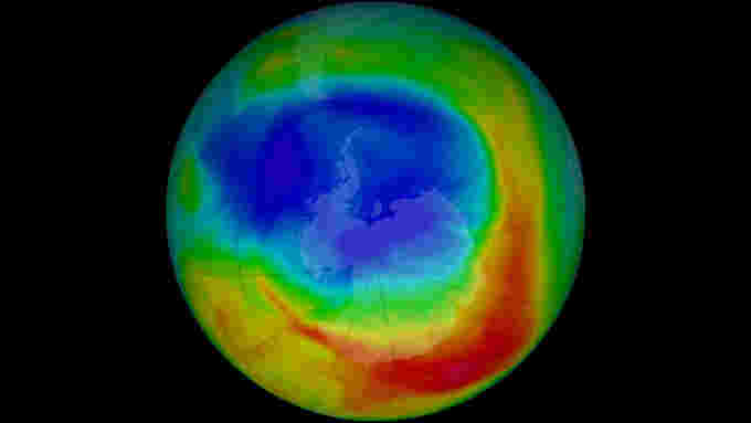 Smallest Ozone Hole on Record NASA