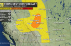 Alberta: Strong storm risk into early Thursday
