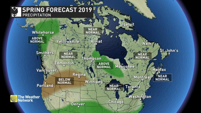 The Weather Network - Spring 2019: Soaring in west, longer
