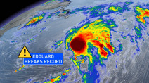 Edouard became earliest 5th-named storm on record in the Atlantic