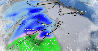 Atlantic: Heavy snow, rain, strong gusts all on the menu