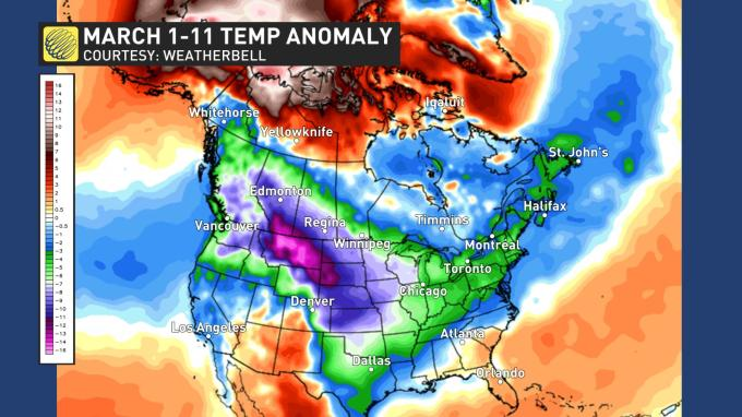 The Weather Network April Sustained Warmth In Jeopardy For Parts