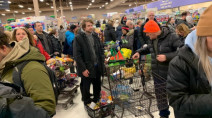 Low on food, blizzard-weary St. John's shoppers head to supermarkets
