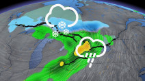 Ontario stuck in active storm track, rain totals will add up