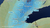 Ontario: Large range in snow totals as temps hover near freezing Monday