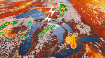 Unyielding heat in Ontario accompanied by severe storm risk