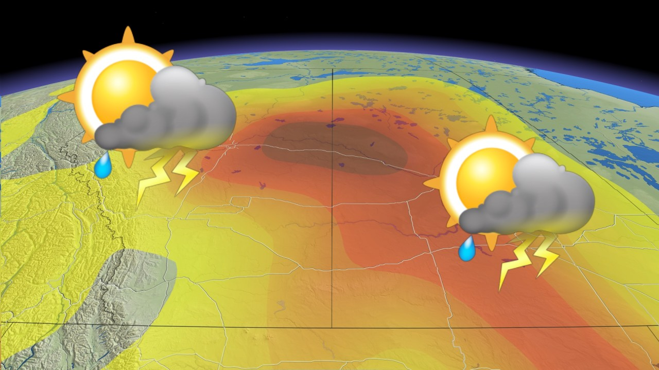 Next blast of searing heat, severe storm threat looms on the Prairies