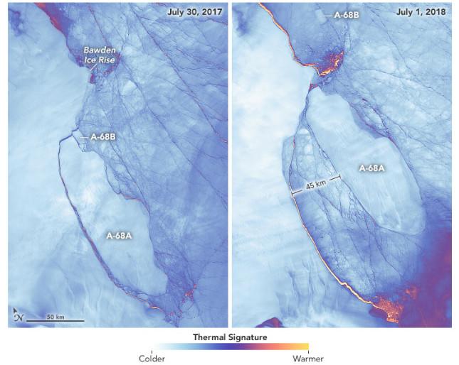 iceberg position nasa worldview